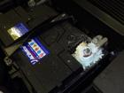 ジャガー Xタイプ バッテリー交換とロクショウ清掃