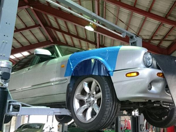 ジャガー XJR X308 冷却水漏れ修理